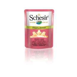 Schesir Cat Pouch 70g (Broth), Chicken with beef