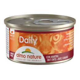 Aliment pour chat mousse almo en boite de 85gr au canard