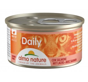 Cat food in foam Almo, box of 85gr, salmon.