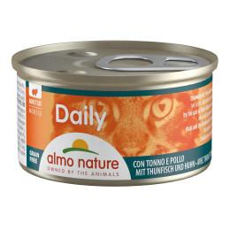 Aliment pour chat almo en boite 85gr mousse thon et poulet