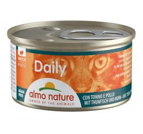 Food for cats almo in-a-box 85gr foam tuna and chicken