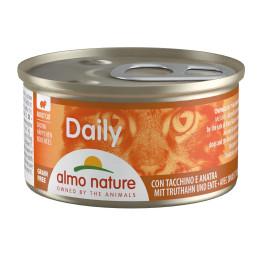 Aliment pour chat en boite almo bouchées à la dinde et au canard 85gr