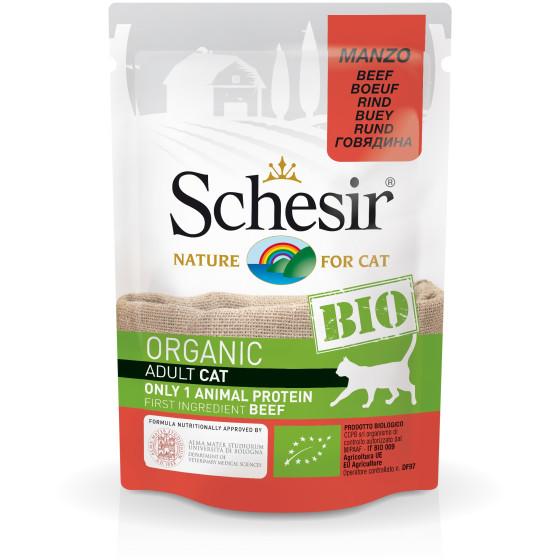Schesir Cat Pouch Organic Beef 85gr