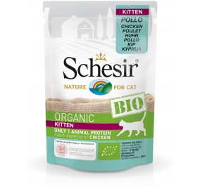 Schesir Cat Kitten Chicken Pouch Organic 85gr