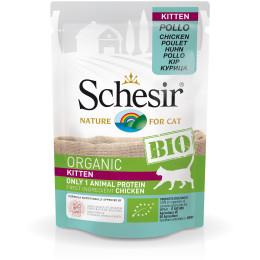 Schesir Cat Kitten Chicken Pouch Organic 85gr