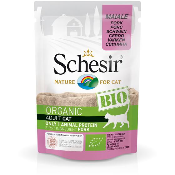 Schesir Cat Sachet Bio Porc 85gr