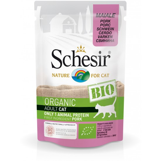 Schesir Cat Pouch Organic Pork 85gr