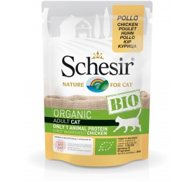 Schesir Cat Pouch Organic Chicken 85gr
