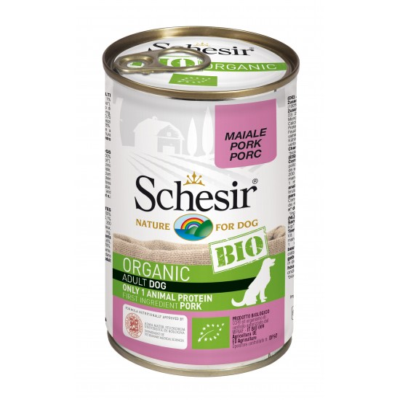 Schesir Dog Box Organic Pork 400gr