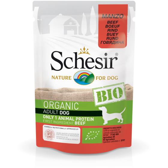 Schesir Dog Bag Organic Beef 85gr