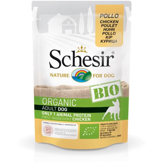 Schesir Dog Bag Organic Chicken 85gr