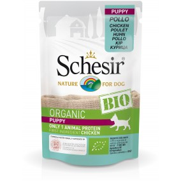 Schesir Dog Sachet Bio Puppy au poulet 85gr