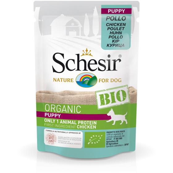 Schesir Dog Bag Bio Puppy with chicken 85gr