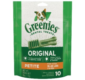 Greenies Pack 170gr Small for a dog of 7 to 11kg