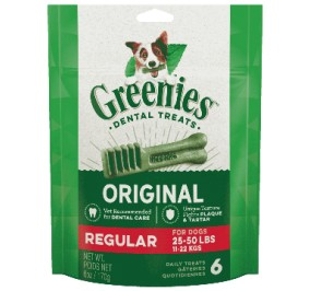 Greenies Pack 170gr Regular pour chien de 11 a 25kg