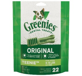 Greenies Pack 170gr Teenies for dogs 2-7kg