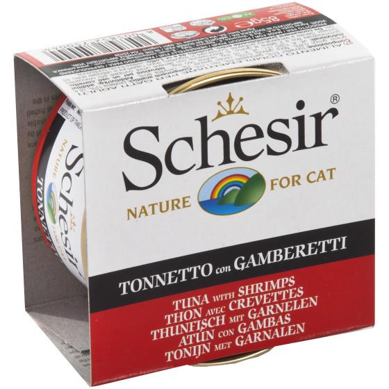 Schesir Cat Boite 85g Thon&Crevettes