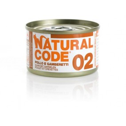 Natural Code Cat boite N°2 Poulet et Crevettes 85gr