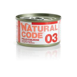 Natural Code Cat boite N°3 Poulet et Saumon 85gr