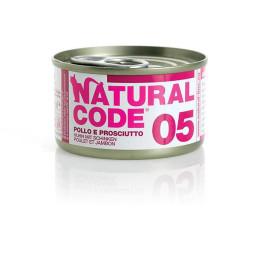 Natural Code Cat boite N°5 Poulet et Jambon 85gr