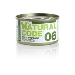 Natural Code Cat boite N°6 Poulet et Légumes 85gr