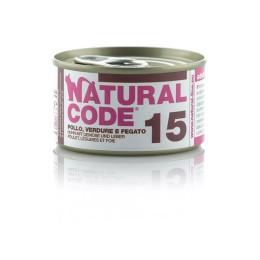 Natural Code Cat boite N°15 Poulet Légume et Foie 85gr