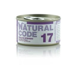 Natural Code Cat boite N°17 Poulet et Autruche 85gr