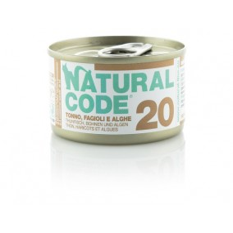 Natural Code Cat boite N°20 Thon, Haricot et Algues 85gr