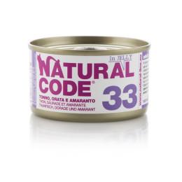Natural Code Cat boite N°33 Thon, Daurade et Amarante 85gr
