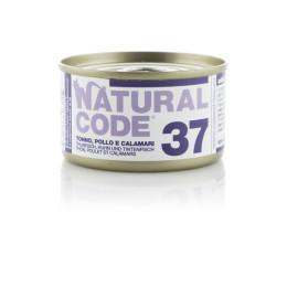Natural Code Cat boite N°37 Thon Poulet et Calamars 85gr
