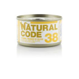 Natural Code Cat boite N°38 Thon, Boeuf et Olives 85gr