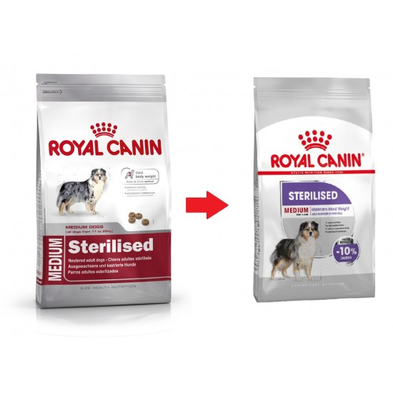 Royal Canin dog SIZE N medium Sterilised 10kg