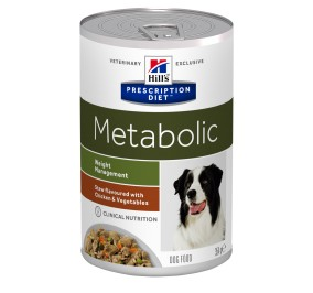 Prescription Diet™ Metabolic Canine Poulet Mijoté en boite 12x354gr