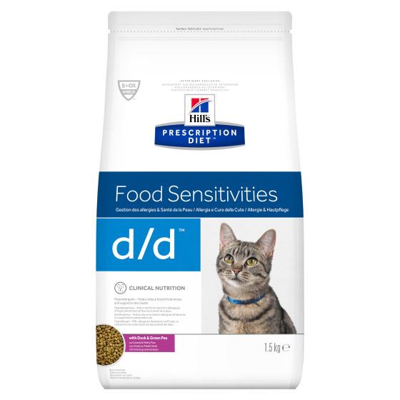 Prescription Diet™ Feline d/d™ Canard & Green Peas 1.5kg