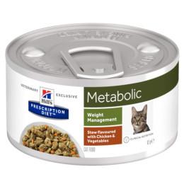 Prescription Diet™ Metabolic Feline Boite Mijoté Poulet Légumes 24x82gr