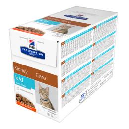 Prescription Diet™ k / d™ Early Stage Feline Chicken Pouch 4x (12x85gr)