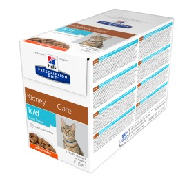 Prescription Diet™ k/d™ Early Stage Feline Sachet Poulet 4x(12x85gr)