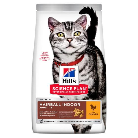 Hill's feline adult hairball indoor cat 3kg