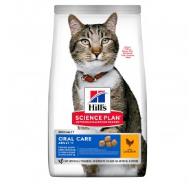 Hill's feline adulte oral care 7kg (Delai 2  a 5 jours)