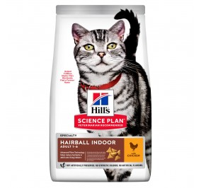 Hill's feline adulte hairball indoor cat 10kg