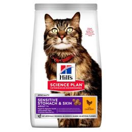 Hill's feline adult sensitive stomach & skin 7kg