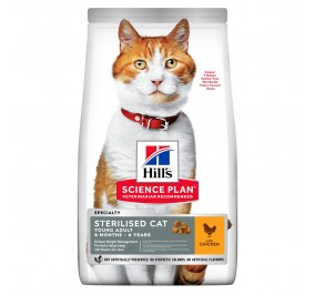 Hill's feline adulte sterilised poulet 10Kg (Delai 2  a 5 jours)
