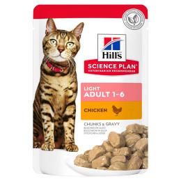 Hill's feline sachet Adult Light chicken 85g