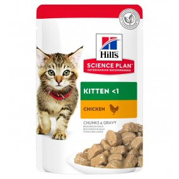 Hill's feline sachet kitten poulet 85g
