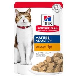 Hill's feline Senior chicken sachet 85g