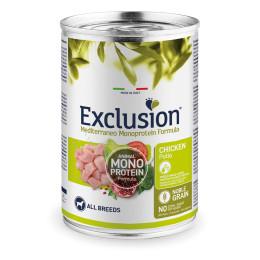 Exclusion MEDITERRANEO Monoprotein Adult all Breeds Chicken 24x400gr