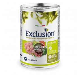 Exclusion MEDITERRANEO Monoprotein Adult all Breeds Poulet 24x400gr