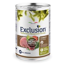 Exclusion MEDITERRANEO Monoprotein Adult all Breeds Dinde 24x400gr