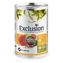 Exclusion MEDITERRANEO Monoprotein Adult all Breeds Boeuf 24x400gr