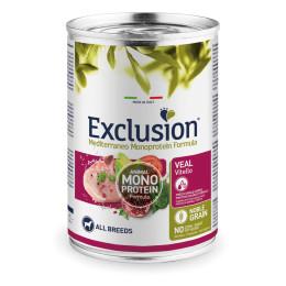 Exclusion MEDITERRANEO Monoprotein Adult all Breeds Veau 24x400gr